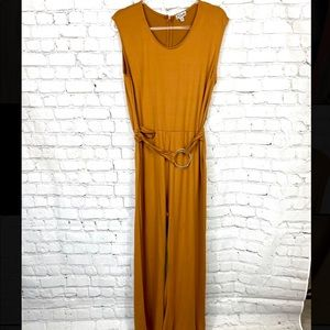 Mustared Colored Jumpsuit-Wide Leg